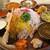 TANE - 料理写真:ミールス1000円+ラムカレー200円+ライス大盛50円+副菜追加100円、計1350円