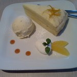 あかぎカフェ - 私のレアチーズケーキセット