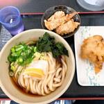さぬき麺児 - 冷ブッカケ(大)&とり天&ゲソ天
