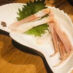海鮮料理 鶴丸 - 蟹の刺身