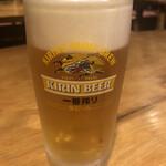 海鮮料理 鶴丸 - 生ビール