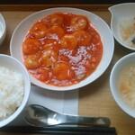 穂の華 - エビチリ定食(やっぱり美味しかった!)