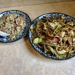 竜鳳 - 料理写真:焼きそば 半焼き飯セット