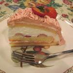 グロヴナーカフェ - 苺のモンブラン