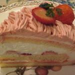 グロヴナーカフェ - 苺のモンブラン¥500