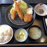 とんかつレストランかつ吉 - 料理写真:えび2ヒレ1セット