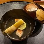 旬席 鈴江 - 島根のグジと京都山城の筍 若竹のお椀