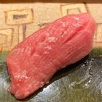 旬席 鈴江 - 大間の鮪 カマした 中とろ 塩と醤油