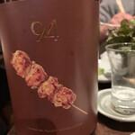 124180609 - 玉乃光の焼鳥専用酒「94」です つくねの上から3番目の焦げ目は日本列島だそうで
