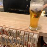 すしまる - 最初の一杯、100円ビール