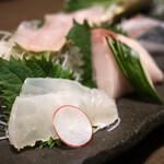 おいしい山形のお店 神田鳥海 - 松 刺し盛り(豪快5種)