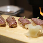 おいしい山形のお店 神田鳥海 - 山形牛 肉寿司