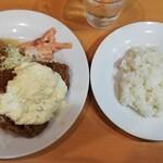 キッチンまつむら - ガッツリなポークジンジャーとチキン南蛮