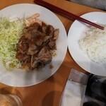 キッチンまつむら - 友人が注文した生姜焼き