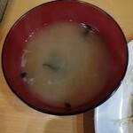 キッチンまつむら - 全メニューに味噌汁