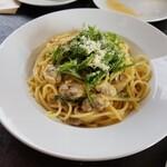 124210790 - あさりと水菜のペペロンチーノ1000円