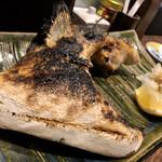 地鶏割烹 稲垣 - 鰤カマ炭火焼