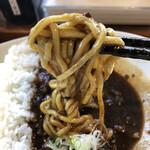 麺家 西陣 - カレーの中からラーメン出現