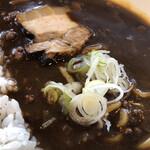 麺家 西陣 - ダムカレーラーメン接写