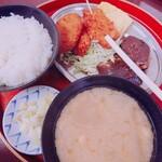 今井食堂 - おすすめ定食(¥770)~さば煮+揚げ物+玉子やき~