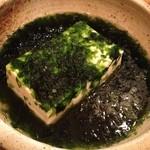 魚盛 - 青のり豆腐