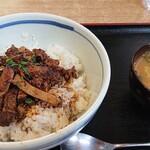 らーめん味求秋田みなと館 - 料理写真:チャーシュー丼。味噌汁うまい!