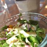 夕日ヶ丘レストラン善生 - 夕日ヶ丘 日替わり夜ランチの サラダ&スープ