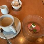 Aglio - パスタランチのコーヒー&デザート(2019,10)