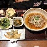利衛門 - おろし天そば御膳:蕎麦、ツユともに美味しい。天ぷらはもうひとつ。