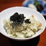 銀座 しのはら - 食事 松葉ガニの炊き込みご飯