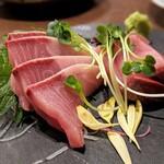 板バ酒バ魚 - 天然ぶり刺身