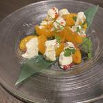 124262237 - 旬の柑橘とマスカルポーネのカプレーゼ