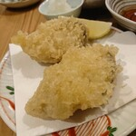 酒呑蕎食〆タグル - 牡蠣の天ぷら
