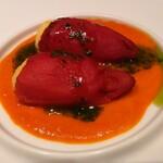 H.P.STYLE Kitchen - 赤ピーマンの塩ダラ詰め