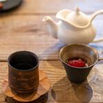 ヴィラ・アイーダ - 2020.1 京都の玄米茶、タピオカとイチゴ