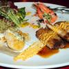 ふじや - 料理写真:お昼のランチプレート:週替わりで魚・肉の付いたワンプレートランチ。