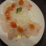 124289403 - 朝〆鮮魚のカルパッチョ