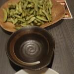 124289405 - 枝豆の燻製