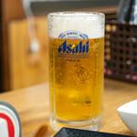 満幸商店 - 2020.1 生ビール中(500円)アサヒスーパードライ
