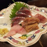 金町製麺 - 刺身盛り合わせ