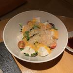 124311764 - 生湯葉とお豆腐サラダ西京みそドレッシング