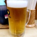 いっぴん定食 藤 - ビール 450円