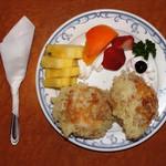 ハンバーグ専門店 テキサス - ハンバーグ専門店 テキサス アイスの天ぷら(2012.4.9撮影)