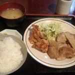 五十亭 - 生姜焼きと鶏の唐揚げ定食