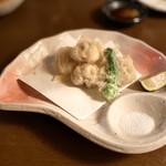 酒の魚 和海 - 白子の天ぷら