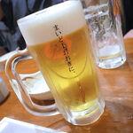 天王寺 はち八 - サッポロ生ビール 黒ラベル(500円)