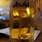 12433829 - まずは、何時ものように、これからでしょう。 アサヒの生ビールです。 乾杯! ぷふぁ~、旨い!! さ~て、今日も美味しい物を食べましょう。