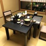 九兵衛旅館 - 夕食会場(個室)へ