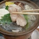 ときわ寿司 - クエ鍋の切身