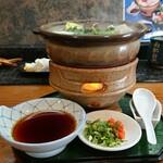 ときわ寿司 - クエ鍋を横から
